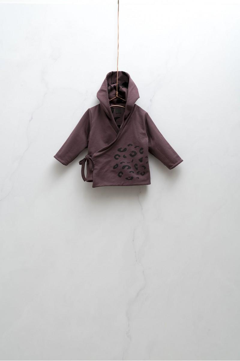 Obojstranný kabátik na zaväzovanie